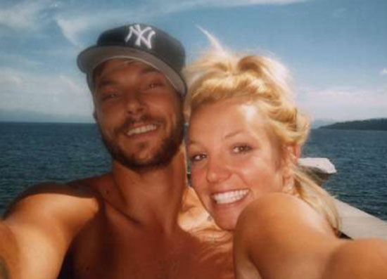 Britney Spears and Kevin Federline on a boat